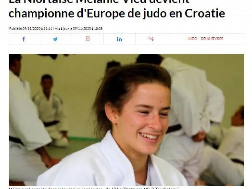 Image de l'actu 'Mélanie Vieu Championne d'Europe -23 ans'